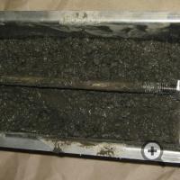 Датчик влагомера FIZEPR-SW100.30.2, заполненный бетонной смесью