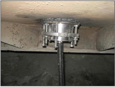 Датчик FIZEPR-SW100.70 закреплен в полу бетоносмесителя